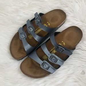 Birkenstock Florida Three Strap Birko-Flor Sandals
